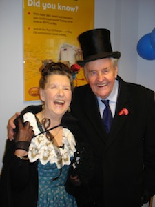 Richard Briers and Audrey Swindells